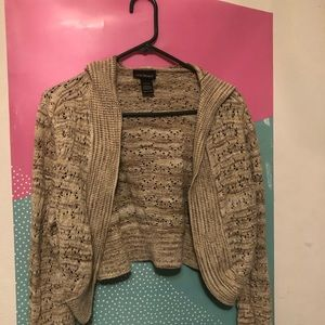 Knitted Cardigan W/ Hood .